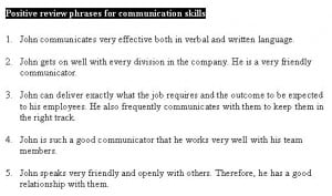 Self Evaluation Performance Sample Phrases For Managers