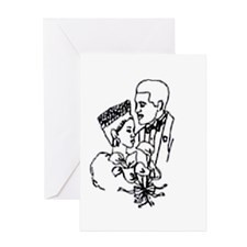 Cute African american wedding Greeting Card