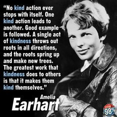 ... kind action forward amelia earhart kind throw amazing amelia amelia