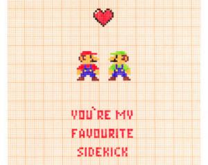 You're My Favourite Sidekick - Mario & Luigi Nintendo Love Romance ...