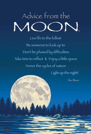 ... Enjoy a little space; Honor the cycles of nature; Light up the night