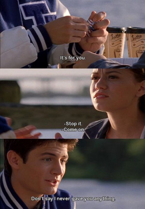 Quotes from One Tree Hill #Nathan #Haley ♥ so cute wish I had a ...