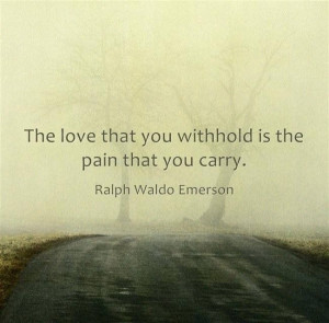 the pain that you carry is made of love.