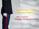 Marine Corps Veterans Day ecard