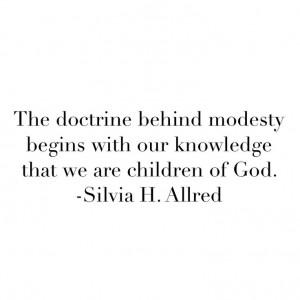 LDS Modesty