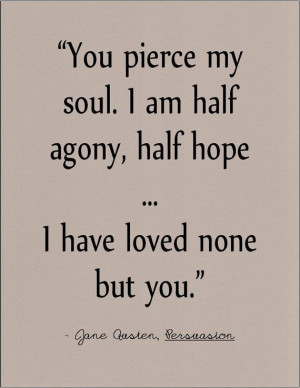Jane Austen Persuasion literary quote on love by jenniferdare on Etsy ...