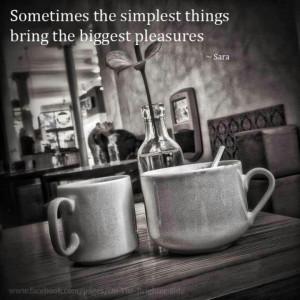 Simple Things Offer Joy