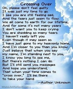 ... ones passed when a loved one passes away their letter to us quotes