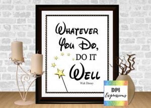 Walt Disney Quote, Printable Nursery Art Print