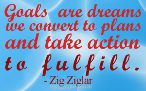 Motivational Wallpaper on Dreams: Goals are dreams we convert to plans