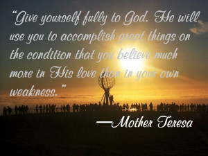 Quotes Mother Teresa and 'Anyway' poem