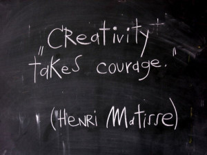 work in a creative business the business of creativity to be exact ...