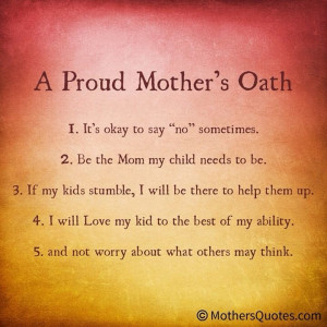 Proud Mother's Oath