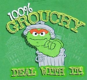 10614 100% Grouchy - Oscar - Sesame Street Toddler T-shirt