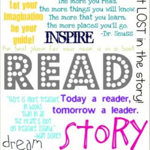 Inspire Reading Subway Art {Free Printable}