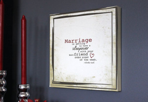 Canvas MARRIAGE quote WALL HANGING Sign // Bedroom Decor //