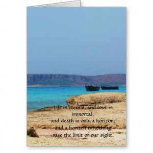 Inspirational Grieving Quote for Healing Greeting Cards