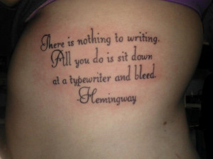 ... quotes, meaningful sayings, poems and song lyrics to design tattoo