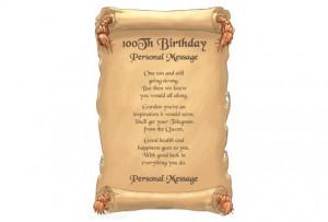 Happy 100th Birthday Poem