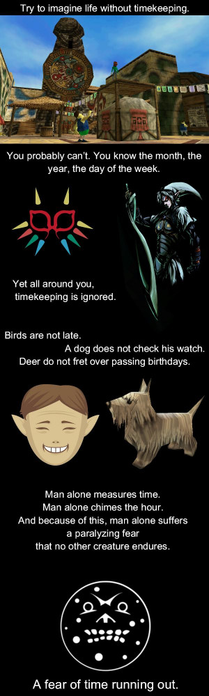 ... Without Timekeeping With Legend of Zelda Majora's Mask For Example