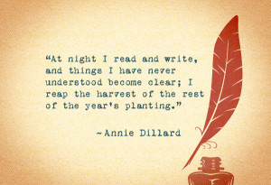 """reading a recommendation for the book """"The Writing Life"""" by Annie ..."""
