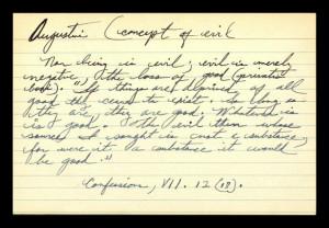 Augustine (Concept of Evil)