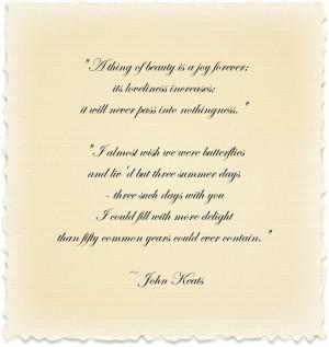 John-keats-quote
