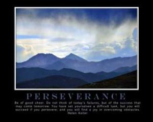 Perseverance Helen Keller Quote Motivational Poster Art