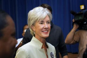 Kathleen Sebelius Campaigns For Obama In Michigan Kathleen Sebelius