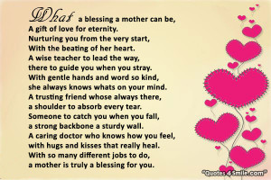 Mother is Truly A Blessing
