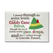 Candy Cane Forest Quote Rectangle Magnet for