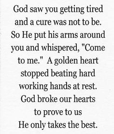 GOLDEN HEART-a poem I read to my daddy as he passed away-a nurse ...