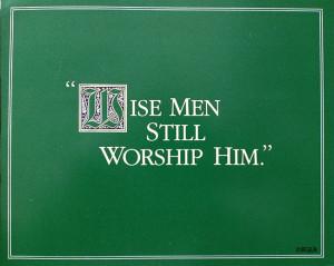 Billy Graham Christmas card 1986
