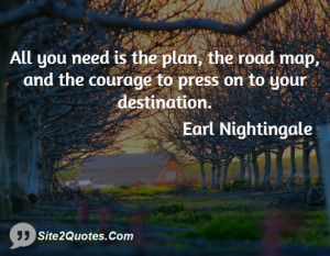 All you need is the plan, the road map, and the courage to press on to ...