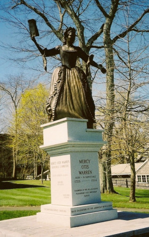 This statue commemorating the life of Mercy Otis Warren is located in ...