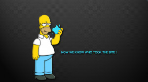 The Simpsons Homer Apple humor funny text quotes cartoon wallpaper ...