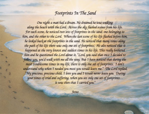 Footprints in the sand poem. God is always with you.: Footprint Poems ...