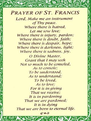 st francis prayer prayer of st francis