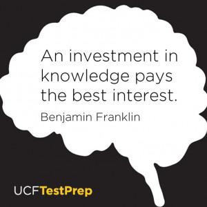 benfranklin #ucf #ucftestprep #education #knowledge #quote