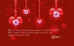 Happy Valentines Day Quote Of Love Picture Image