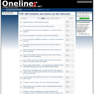 Related to Onelinerz.net - TOP 100 funny one-liners, quotes, jokes