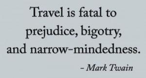 travel, Mark Twain quote