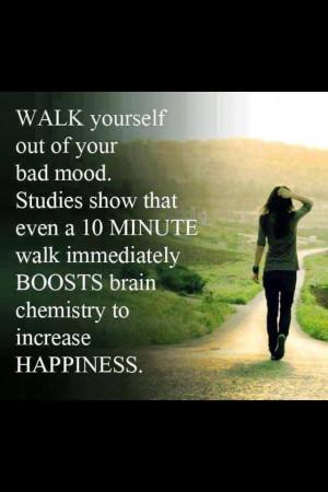 Walking to improve mood