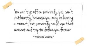 Quote: Michelle Obama