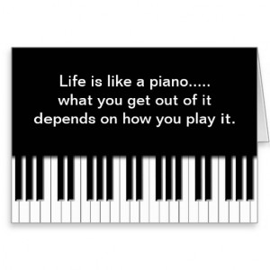 Card with quote - Piano Keys Keyboard