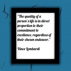 Commitment To Excellence Vince Lombardi Quote