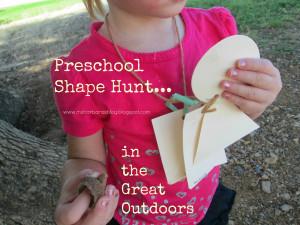 Preschool Shape Hunt...in the Great Outdoors