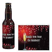 Holiday Beer Bottle Labels
