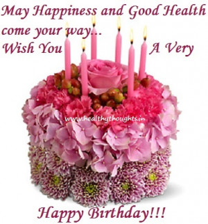 happy birthday flowers and cake happy flower quotes quotesgram 4716