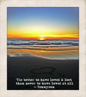 Tennyson quote.